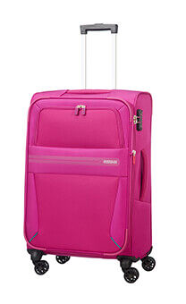 519ac4166688c American Tourister Summer Voyager Spinner Expandable 68cm Deep Pink